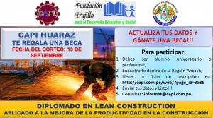 BECA EN LEAN CONSTRUCTION - HUARAZ